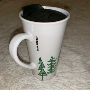 Starbucks 2015 Pine Trees Travel Mug